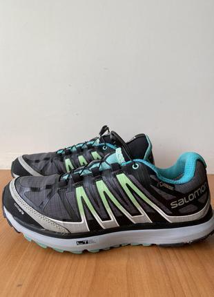 Треккинговые кроссовки salomon, оригинал, gore-tex, размер 39, осенние, спортивные, цветные, женские, лёгкие