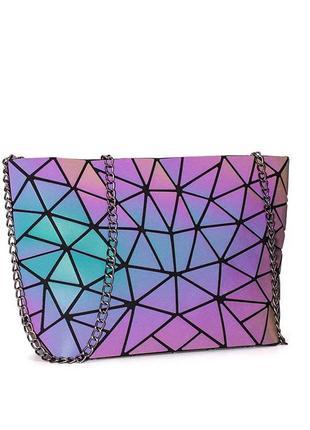 Новая светоотражающая голографическая сумка с треугольниками
