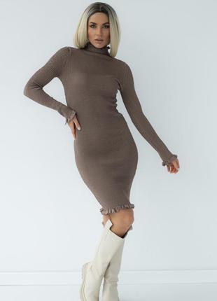 Платье жатка с оборками