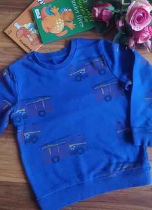 Модный теплый свитшот, толстовка, свитер m&s на 4-5 лет