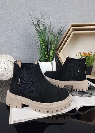 Замшевые ботинки санта, деми, зима