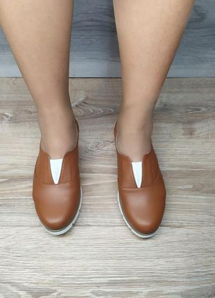 Кожаные туфли 37  и  40 размера от производителя , шкіряні туфлі
