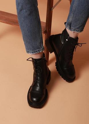 Ботинки женские демисезонные, натуральная кожа