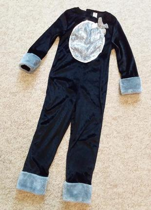 Комбинезон костюм кошечки на хеллоуин или новый год 5-6 лет