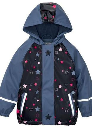 Дождевик курточка на флисе для девочки lupilu