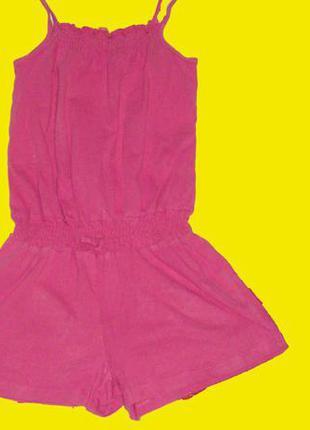 Розовый хб ромпер,рост 122 см