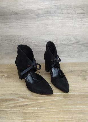 Замшевые туфли на каблуке - натуральная замша , 36 размера model 2346