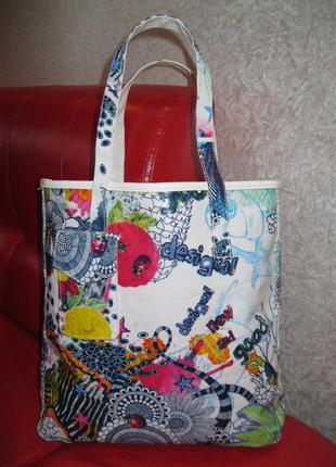 Фірмовa іспанськa сумкa шоппер desigual. оригінал!!!