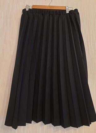 Юбка плиссе,  гофрэ большого размерапот 50- 70