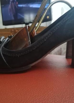 Туфли из натур. кожи нубук.