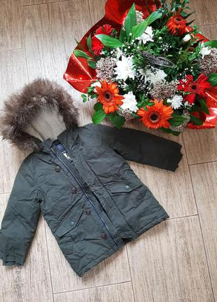 Joules тёплая куртка парка на мальчика
