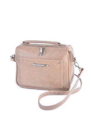Коричневая маленькая мини сумка через плечо модная кофейная сумочка кросс боди