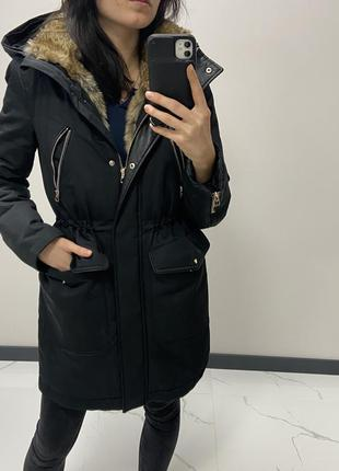 Тёплая качественная куртка парка