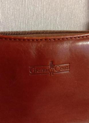 Кожаная сумка  от gianni conti италия