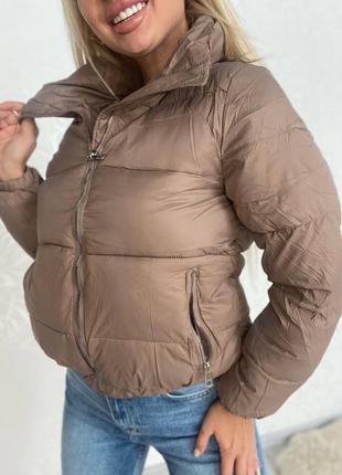 🍁стильная минималистичная демисезонная куртка из синтепона осенняя курточка