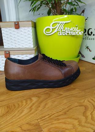 Женские кожаные туфли 36 размер. модель 2625