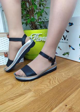 Кожаные женские босножки 36 37  размера, mod 2626 / шкіряні кросівки