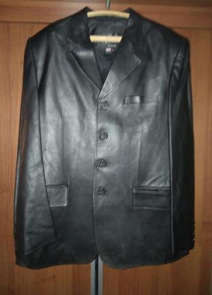 Пиджак кожаный max usa
