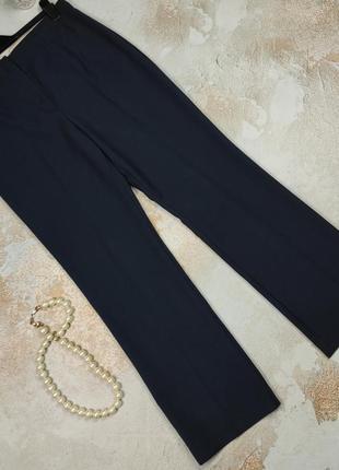 Штаны брюки красивые синие плотные высокие uk 14/42/l