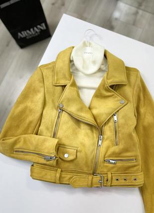 Куртка косуха из мягкой замшевой ткани