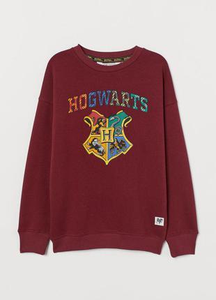 Стильный теплый свитшот h&m гарри поттер хогвартс
