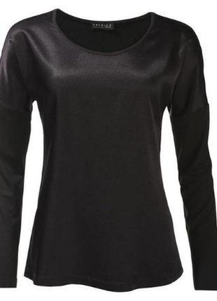 Блузка лонгслив черный комбинированный esmara premium