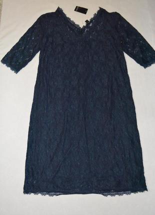 Платье женское гипюровое синие большого размера 58 esmara германия