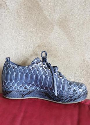 Ботинки туфли кроссовки кожа кожаные питон дракон