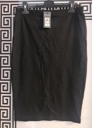 Спідниця юбка карандаш чорного кольору розмір виробника 12, нова з біркою 👍