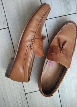 Кожанные туфли лоферы
