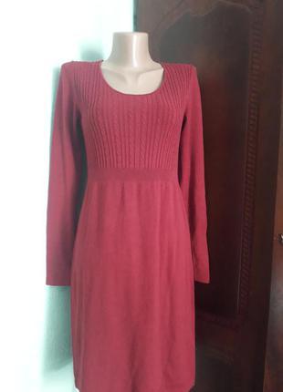 Теплое платье осень весна