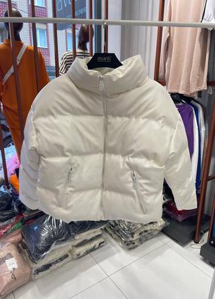 Куртка эко-кожа теплая