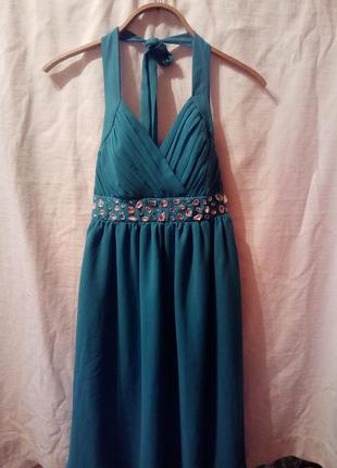 Новое вечернее платье бирюзовое