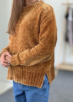 Бархатный свитер m&s 38