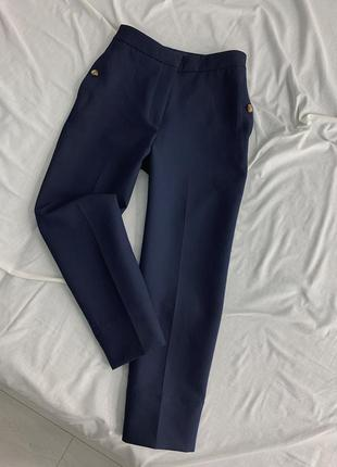 Синие классические брюки m&s