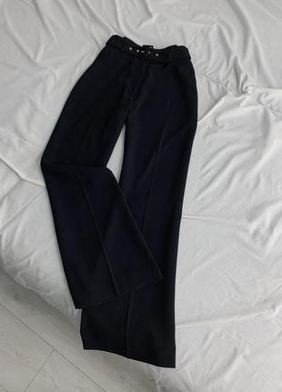 Чёрные клёш брюки lines petite