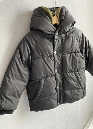 Тёплая лёгкая зимняя куртка пуховик zara