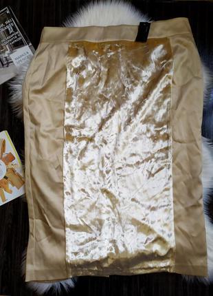🔥🔥🔥продано!!!новая с биркой!! красивая вискозная юбка с вставками велюра размер 3 xl-4xl