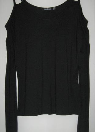 Трикотажная блуза с открытыми плечами 12