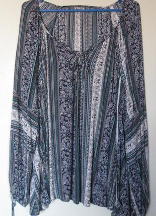 Блузы по 120 грн! бело-синяя большой размер