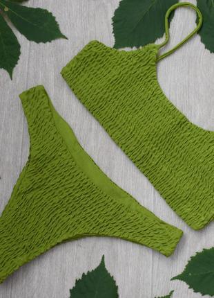 Купальник зелёный жатка