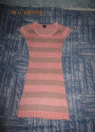 Нежное вязаное платье очень красивое rue21
