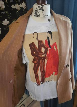 Стильная новая футболка, роскошная базовая, принт
