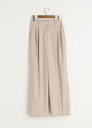 Шерстяные брюки-кюлоты olive