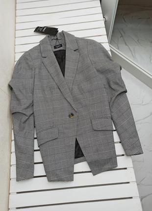 💣крутой пиджак в крупную неброскую клетку💣