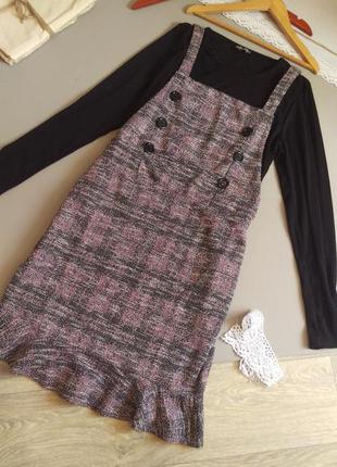 Шикарное платье теплое с водолазкой xxl xl