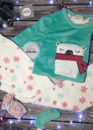 Подарочный набор пижама, носки и маска для сна