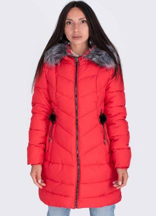 Женская зимняя куртка пальто с капюшоном