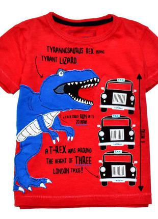 Bluezoo классная футболка с динозавром рексом. 2-3 года