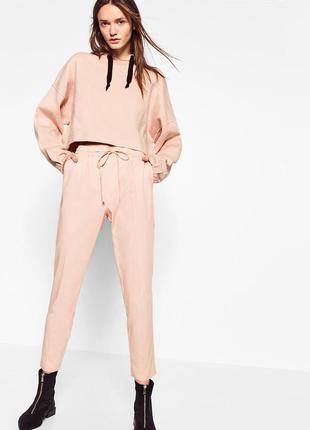 Zara брюки розовые, s